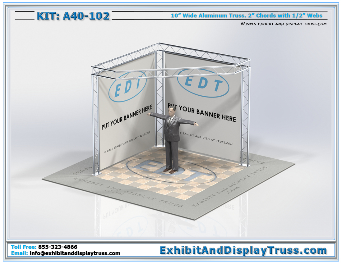 Kit: A40-102 / Flat Packing Cost Effective Trade Show Corner Display