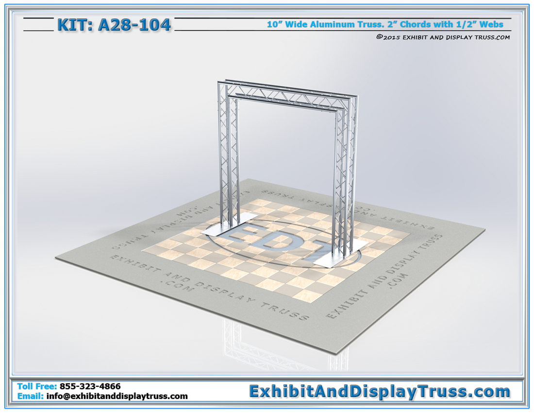 Kit: A28-104 / Aluminum Truss Archway for Fabric Display Backwall
