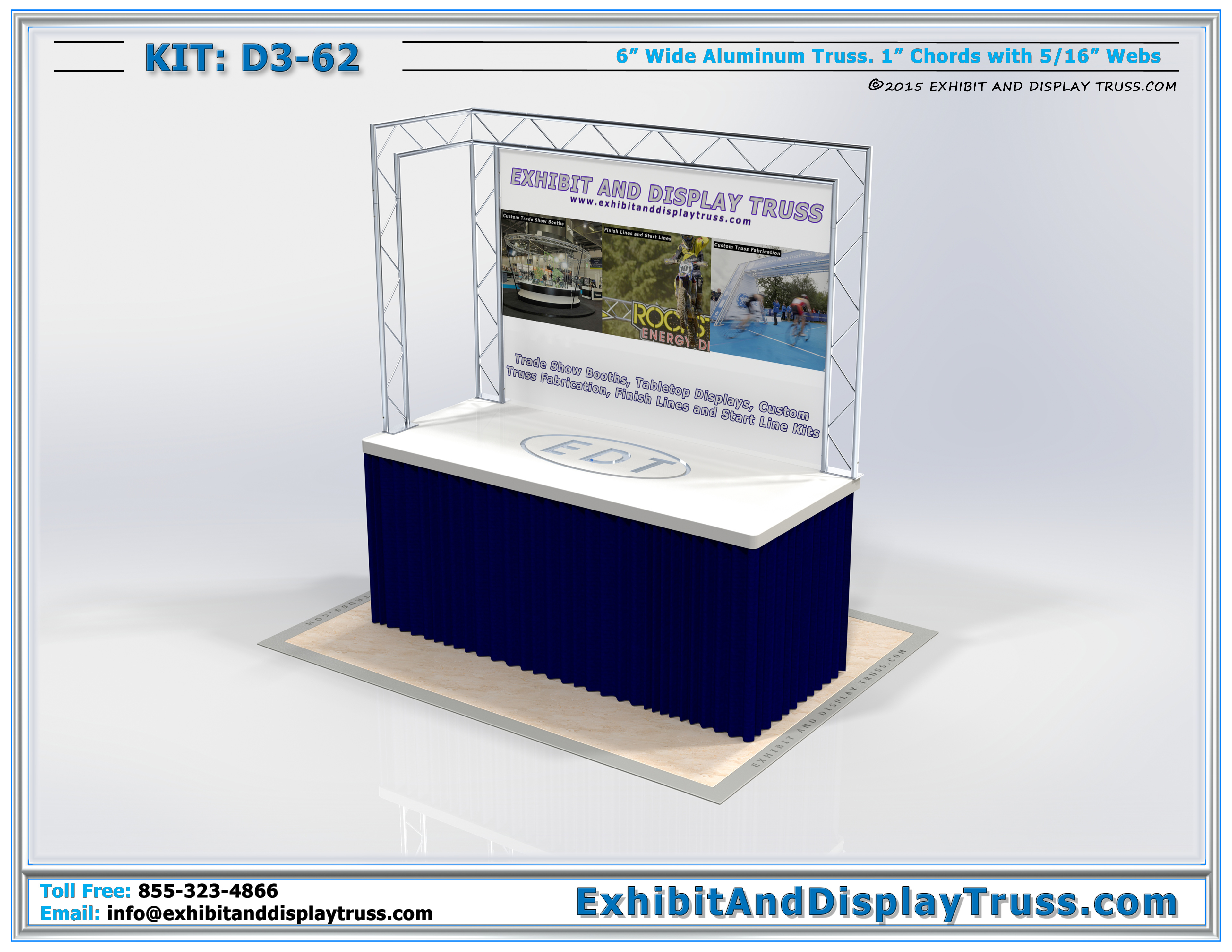 Exhibition Stand Lighting Kits : Tabletop displays d display stand for metal
