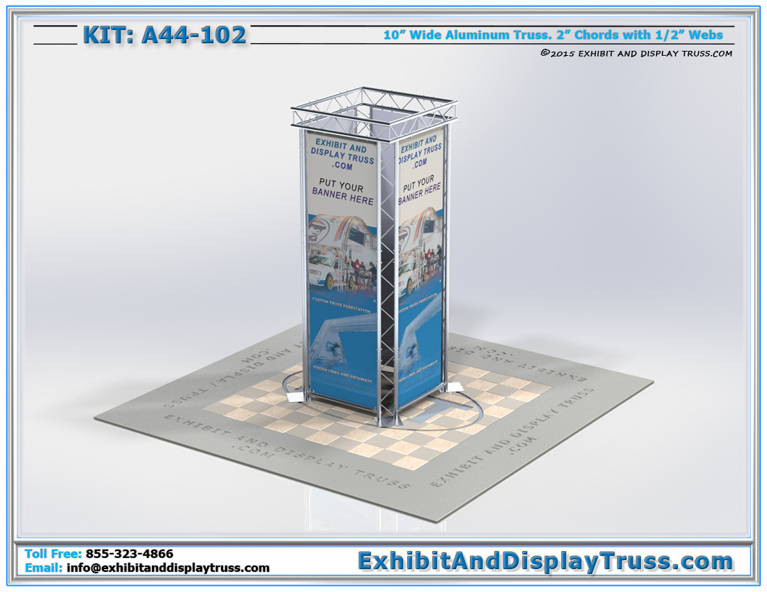 Kit A44-102 / Media Column Truss Booth Display
