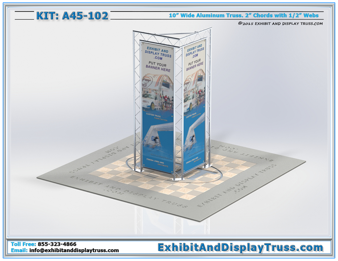Kit A45-102 / Tower Banner Display Triangular Display