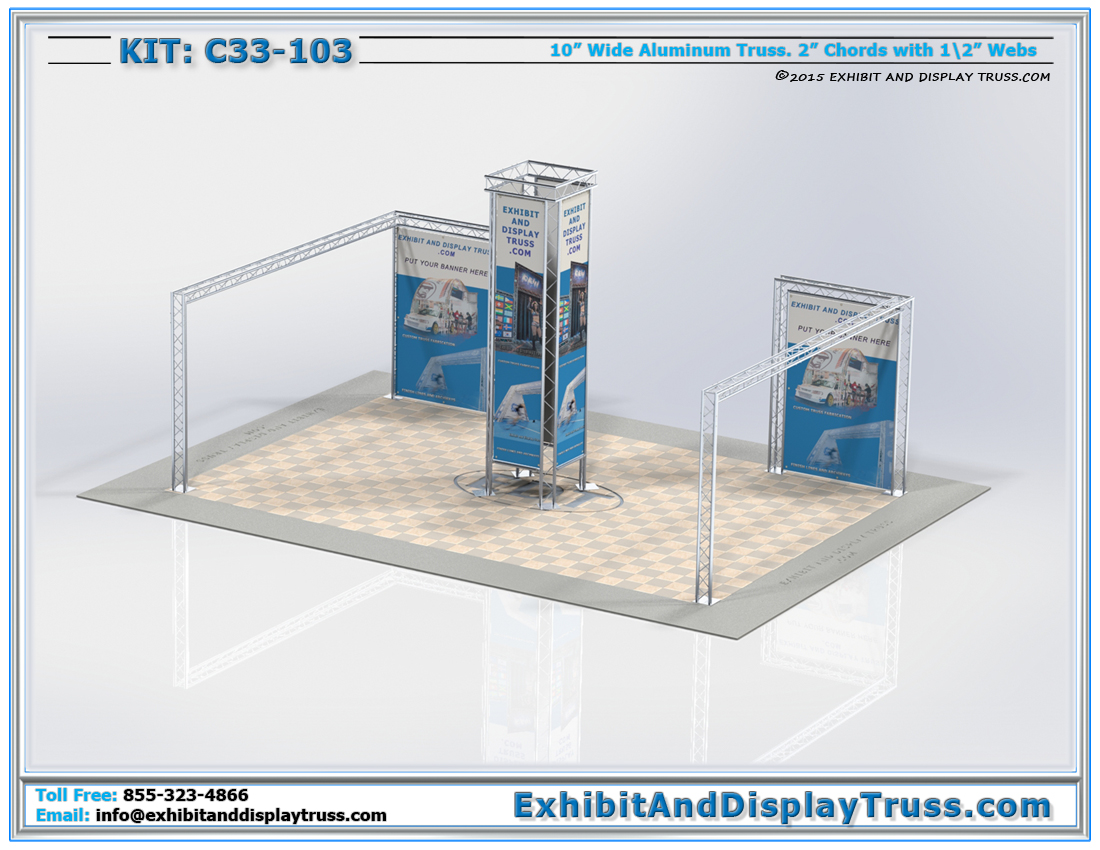 Kit C33-103 / Versatile Trade Show Display for Multiple Configurations