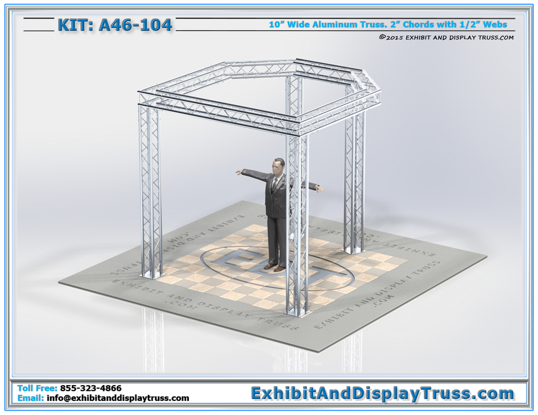 Kit: A46-104 / 10'x10′ Trade Show Truss Display