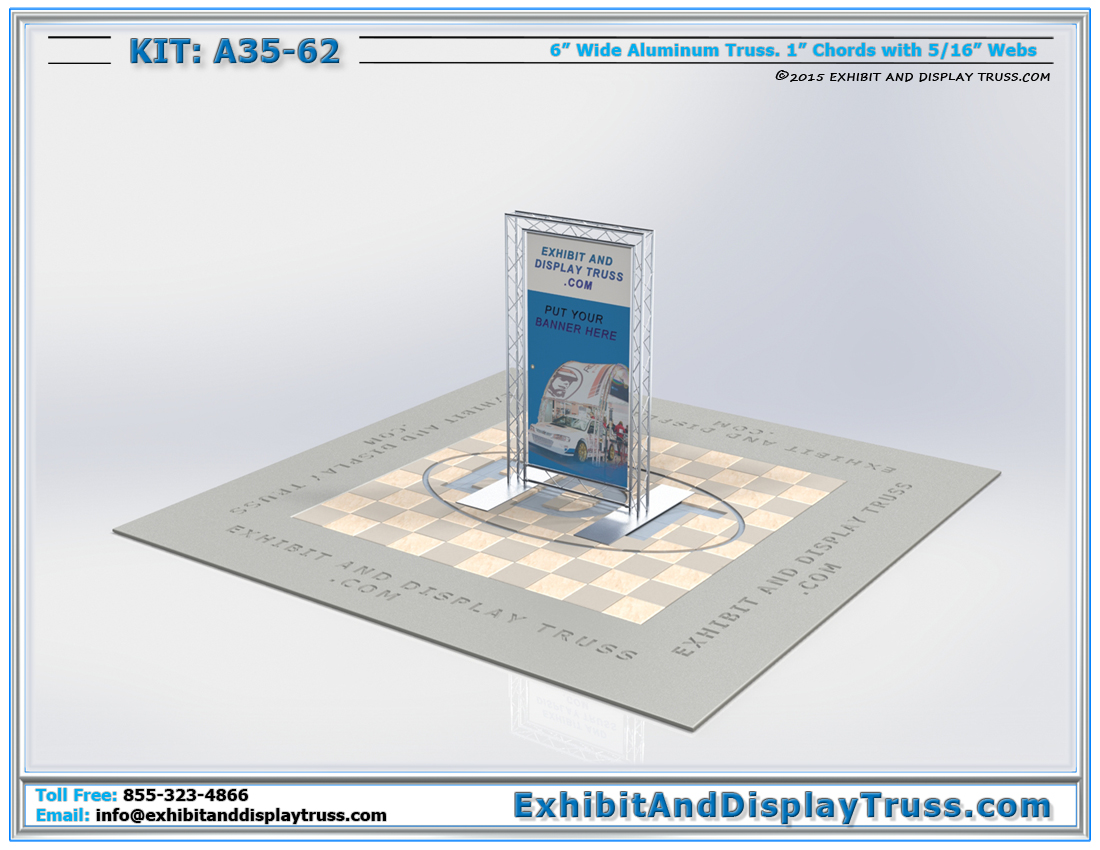 Kit: A35-62 / Lightweight, Flat Packing, Portable Exhibit Banner Stand