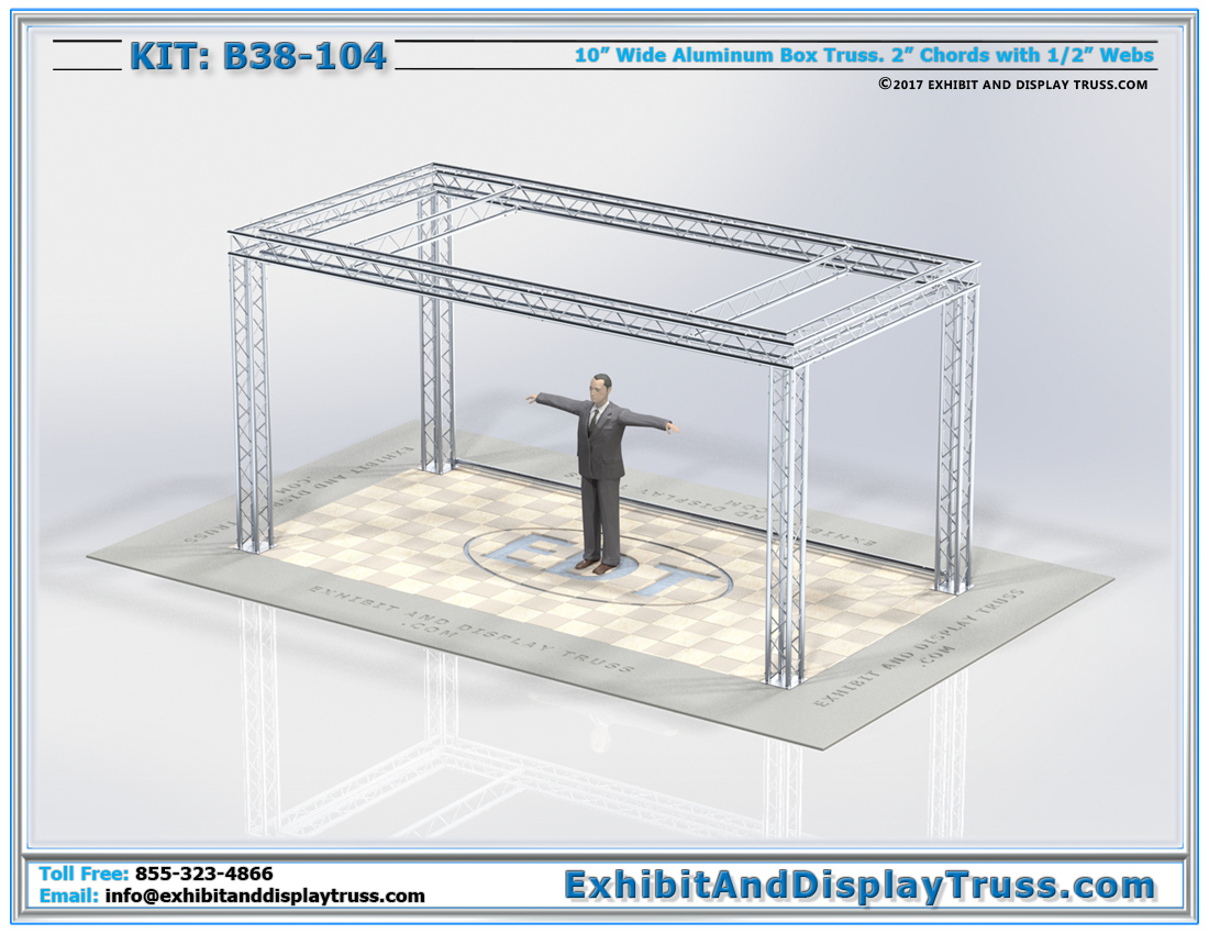 Kit: B38-104 / Aluminum Truss Banner Exhibition Truss System