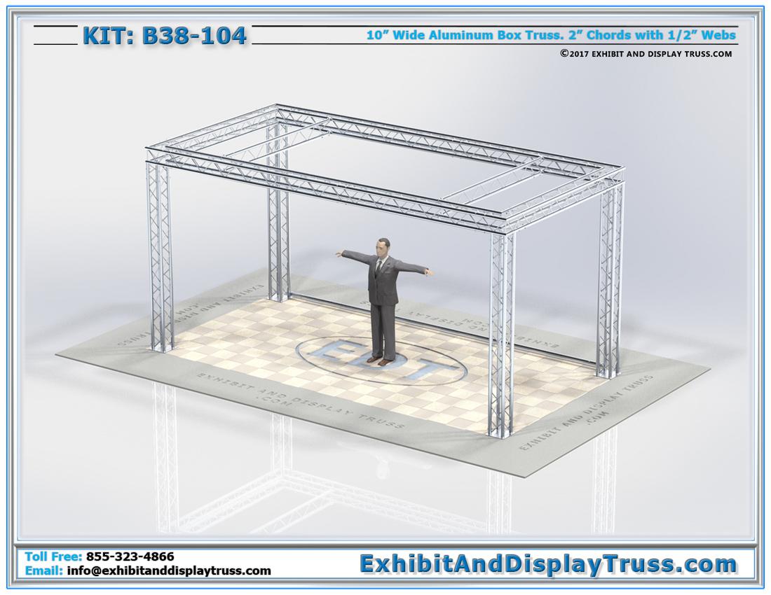 Kit: B38-104 / Aluminum Truss Banner Exhibition Truss System