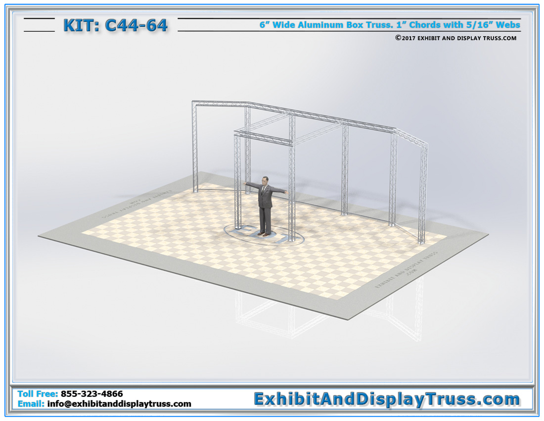 Kit: C44-64 / Portable Aluminum Truss Trade Show Sign Wall