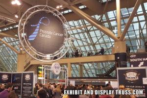 Truss circle display sign frame